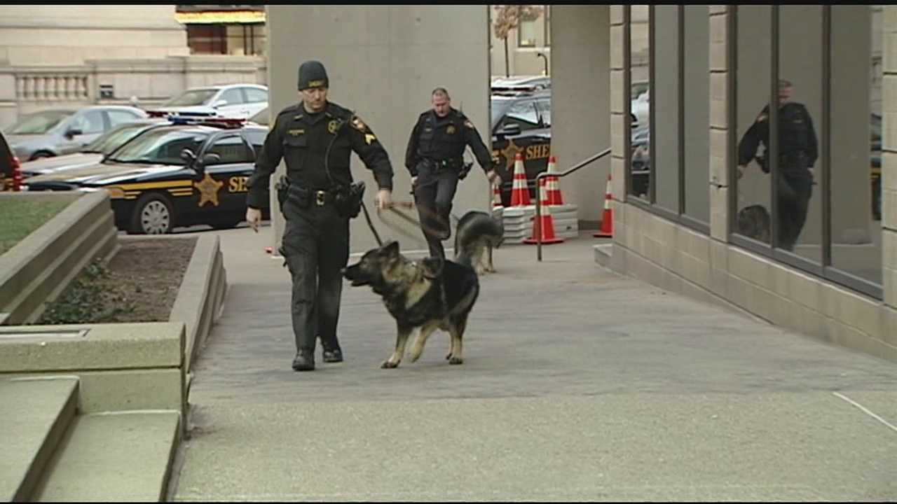 Hamilton County's sheriff says his office is trying hard to stop the flow of drugs and contraband items into the county's jail. Sheriff Jim Neil said several K-9 drug dogs did an hour-long sweep of the Hamilton County Justice Center on Monday morning.