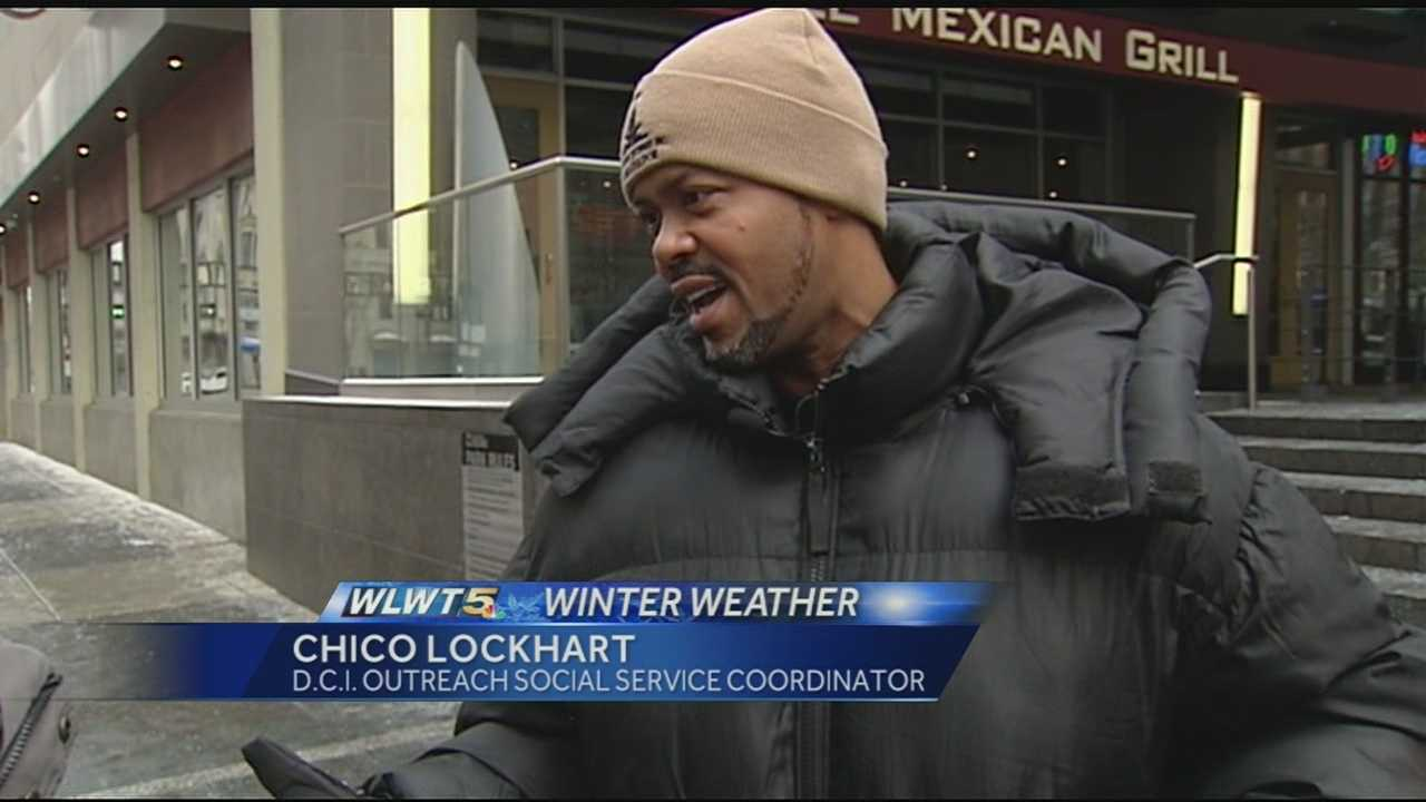 Downtown Cincinnati Incorporated builds relationships with the homeless and panhandlers downtown in order to direct them to services or housing especially during the colder months.