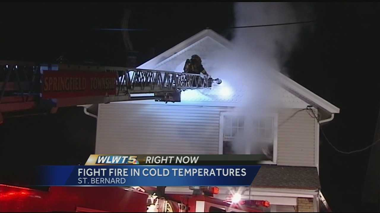 Dispatchers said the fire began at a home in the 100 block of Martin Street around 8 p.m. Tuesday.