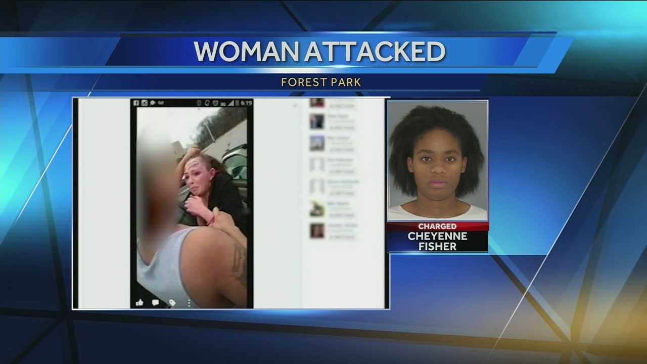 Two people have been arrested accused of brutalizing a young woman and forcing her to relive it all on facebook.