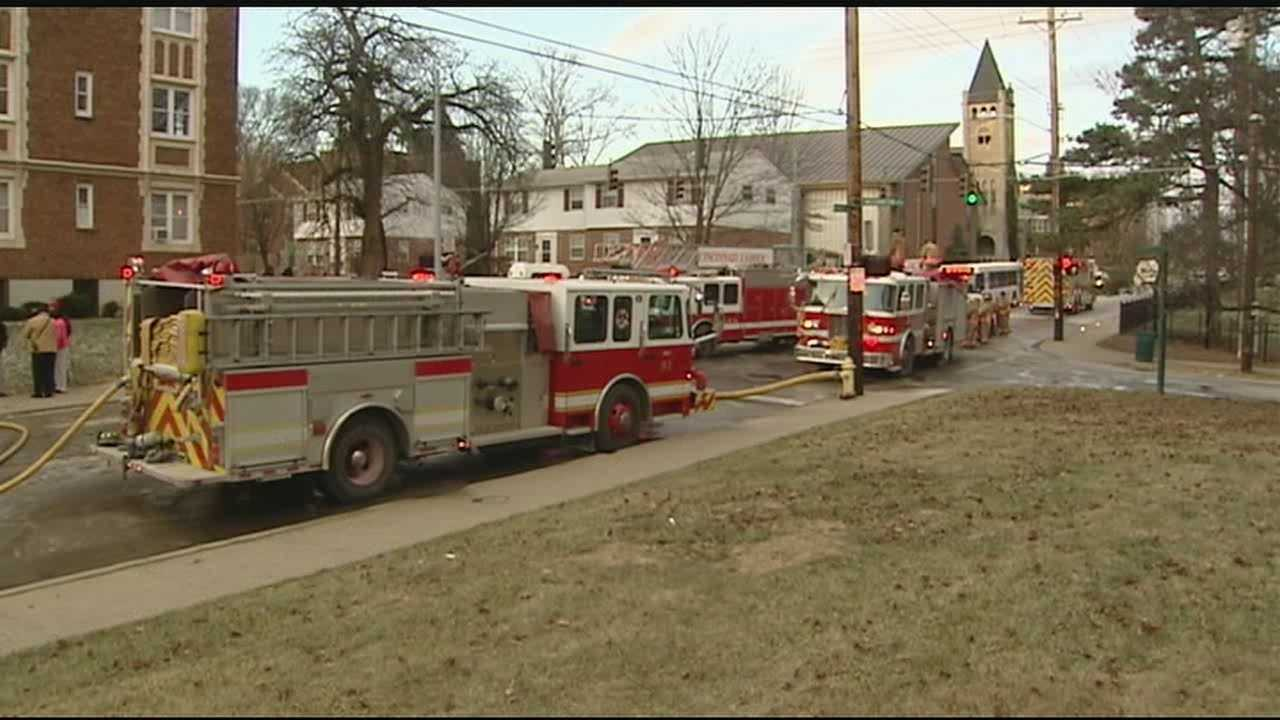 The fire broke out in a first-floor apartment in the 600 block of Forest Avenue shortly before 7:30 a.m. Friday.