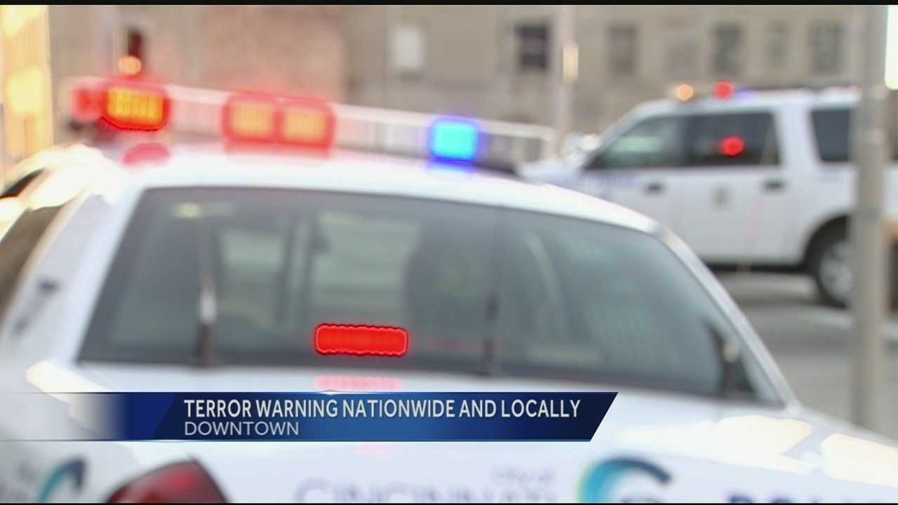 With the new wave of terror threats, agencies nationwide are on alert. Even Tri-State warnings are being issued. Government employees and law enforcement officials have been named targets of direct threats by ISIS, according to Homeland Security. Alerts and warnings have been issued all around the country, including Cincinnati.