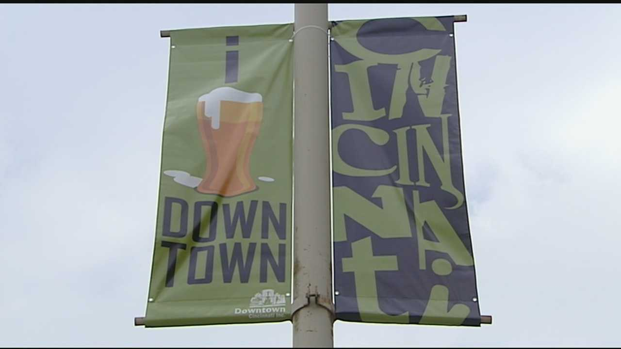 Some may have already noticed the 42 new street pole banners going up around Downtown Cincinnati.