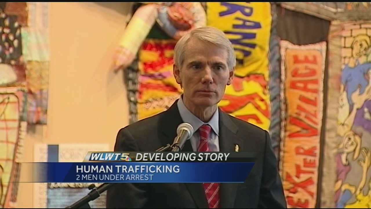 Ohio Sen. Rob Portman spoke at the National Underground Railroad Freedom Center Friday afternoon about the need to end human trafficking.