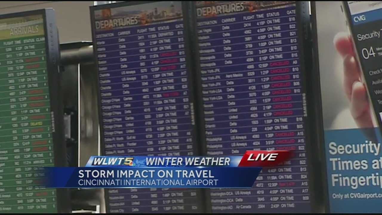 Travel plans were snarled Monday after a winter storm moved across the mid-west and continued to the east coast.