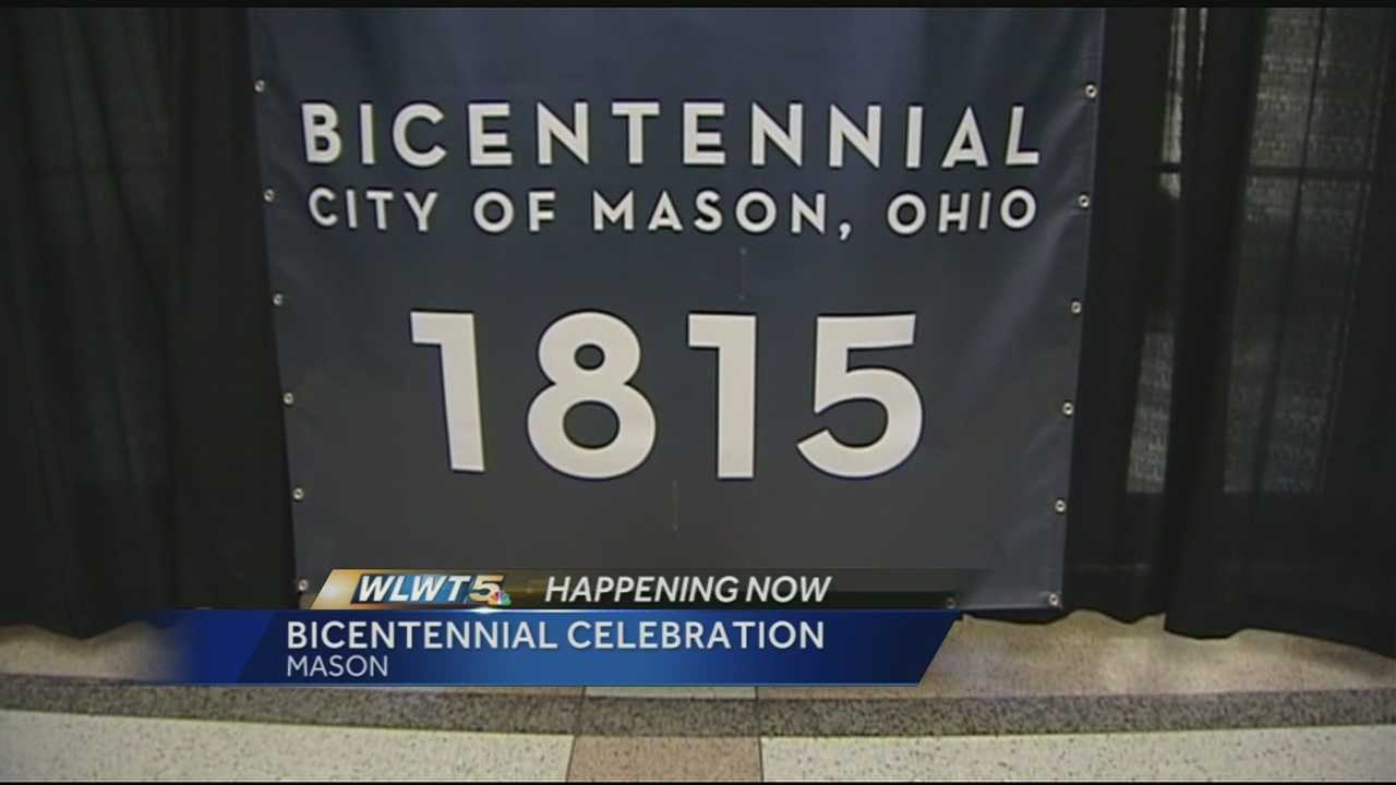 Residents in Mason gathered Monday night to celebrate the city's 200th birthday.