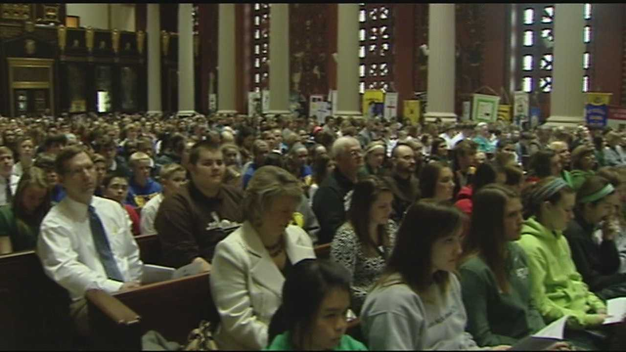 The Tuesday event was part of a weeklong effort to share the Catholic school experience with surrounding communities.