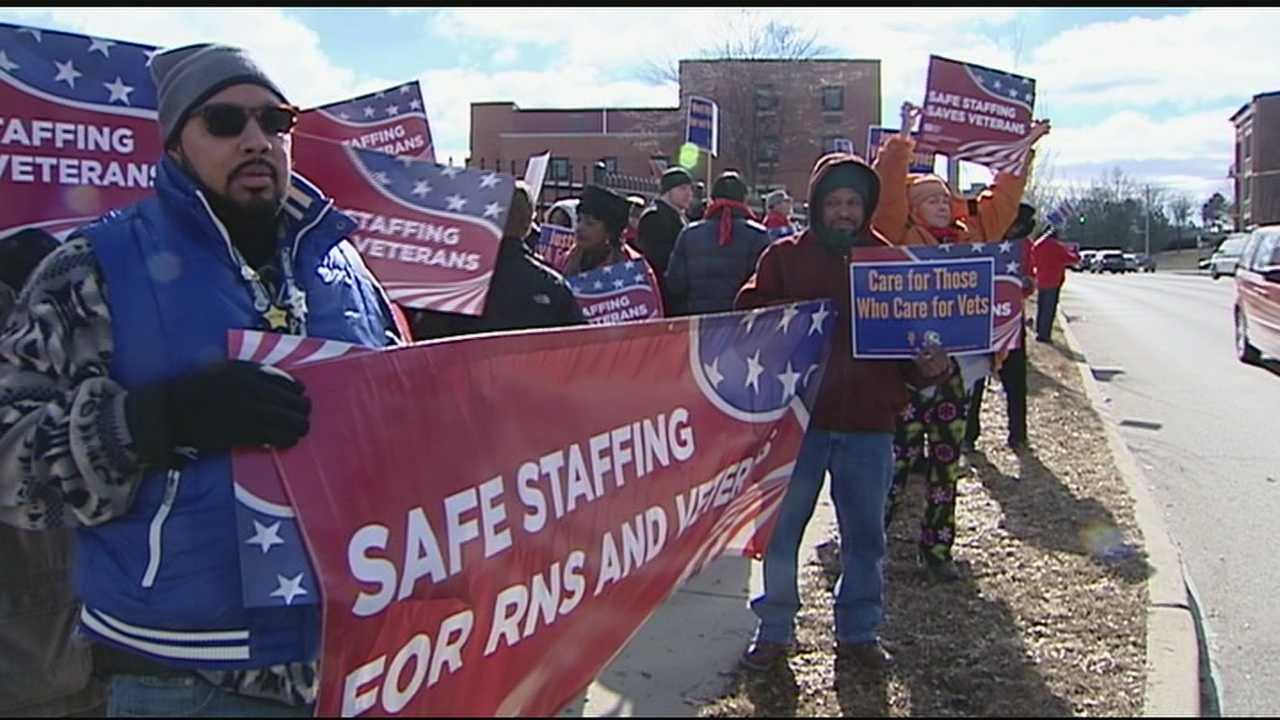Local nurses, veterans and others took their protest to the street in front of the VA hospital in Cincinnati demanding change. They said the change is not only needed but it could be life saving.