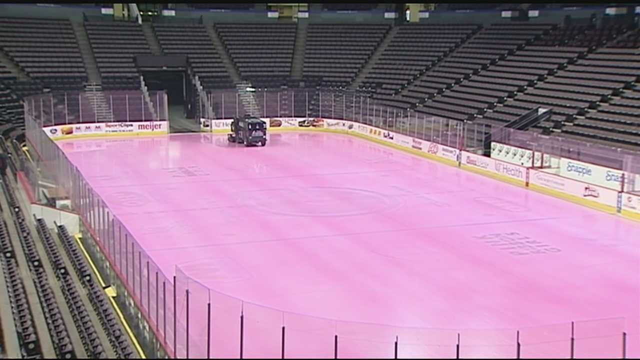 Together with The Cincinnati Cyclones, The Pink Ribbon Girls are turning the U.S. Bank Arena Hockey Rink pink and hosting the Frozen Five 5K.