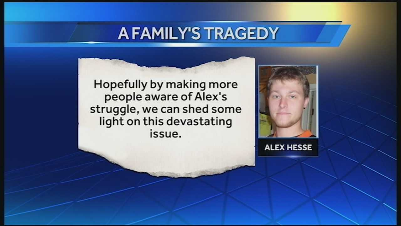 Alex Hesse overdosed on heroin last week. His family is devastated, but said instead of leaving the cause of his death out of the obituary, they wanted to make it prominent.