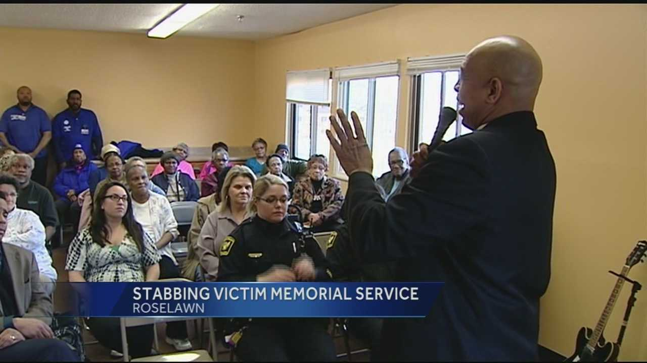 Pastor Tim Carpenter is still healing from the injuries he received while trying to help Patricia Hummons. Police have arrested Andrew Kimbrough, 21, for murder and felonious assault. Tuesday, near the scene of the crime, Carpenter officiated a memorial service for the residents of Hillcrest Elderly Apartments.