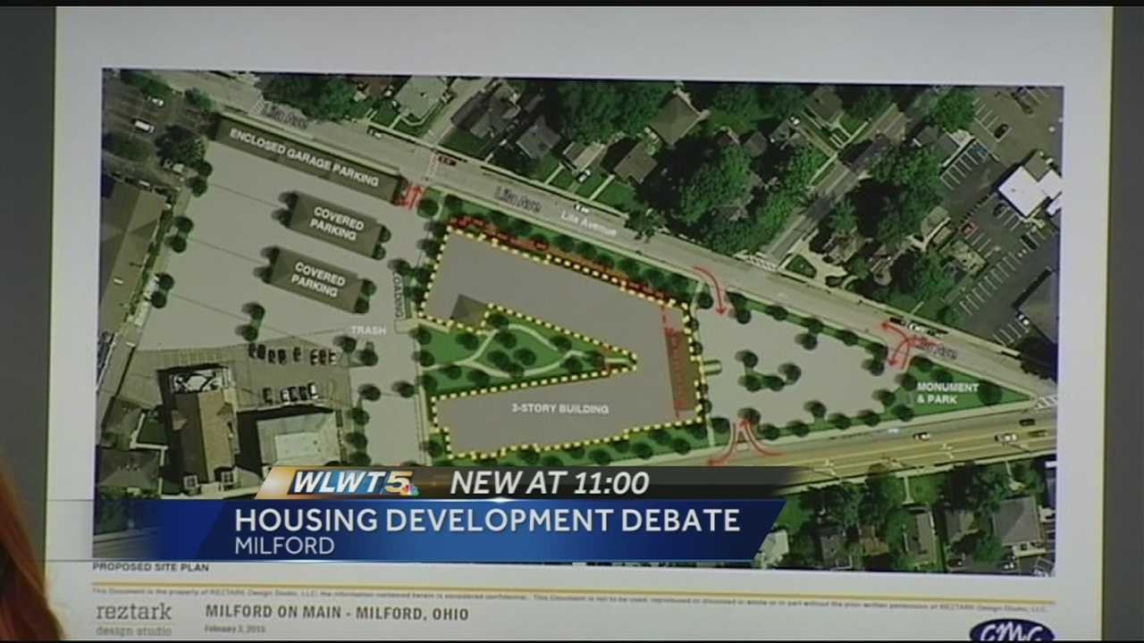 Hundreds of Milford residents attended a city council meeting Tuesday night to speak out against a proposed new apartment development.