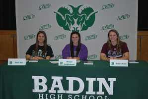 Badin High School:Madi Kah, soccer - Ohio UniversityMorgan Langhammer, soccer - University of EvansvilleAnnika Pater, soccer - Eastern Kentucky University