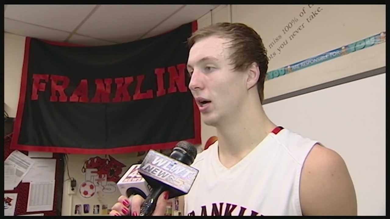 WLWT News 5 Blitz team captured Franklin High School's Luke Kennard pass LeBron James on Ohio's all-time scoring list.