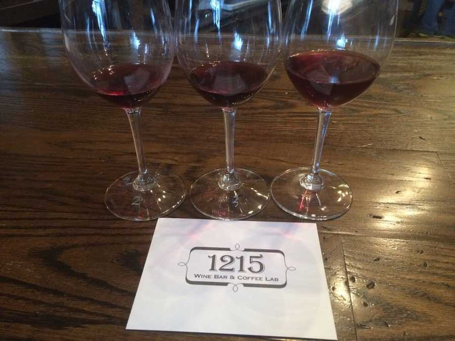 "1215 Wine Bar - ""I love that they offer flights of wine and they bring it out to you like a little guessing game. They write a number on the bottom of each glass and bring you the answer card so you can taste them and try to guess which wine is which from your flight."" - Danae B on Yelp.1215 Vine StCincinnati, OH 45202Over-the-Rhine513-429-5745"