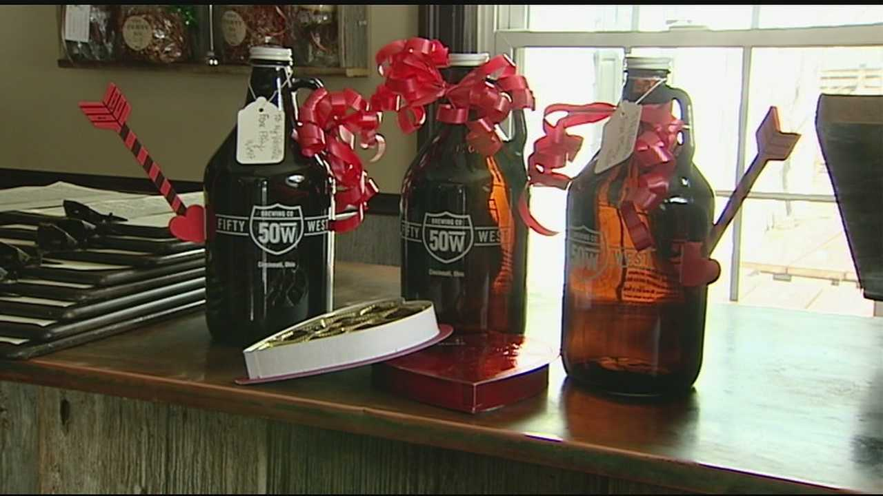 A growler is a bottle filled directly from the tap and holds about six beers. This year, you can get one delivered right to your loved one's door for Valentine's Day.