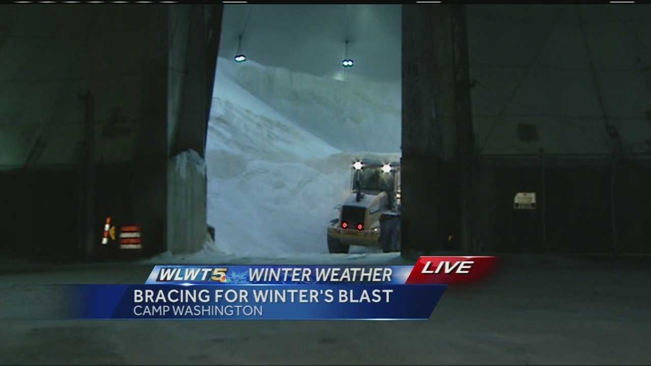 Not only is it freezing cold, but crews have already started preparing for the snow.