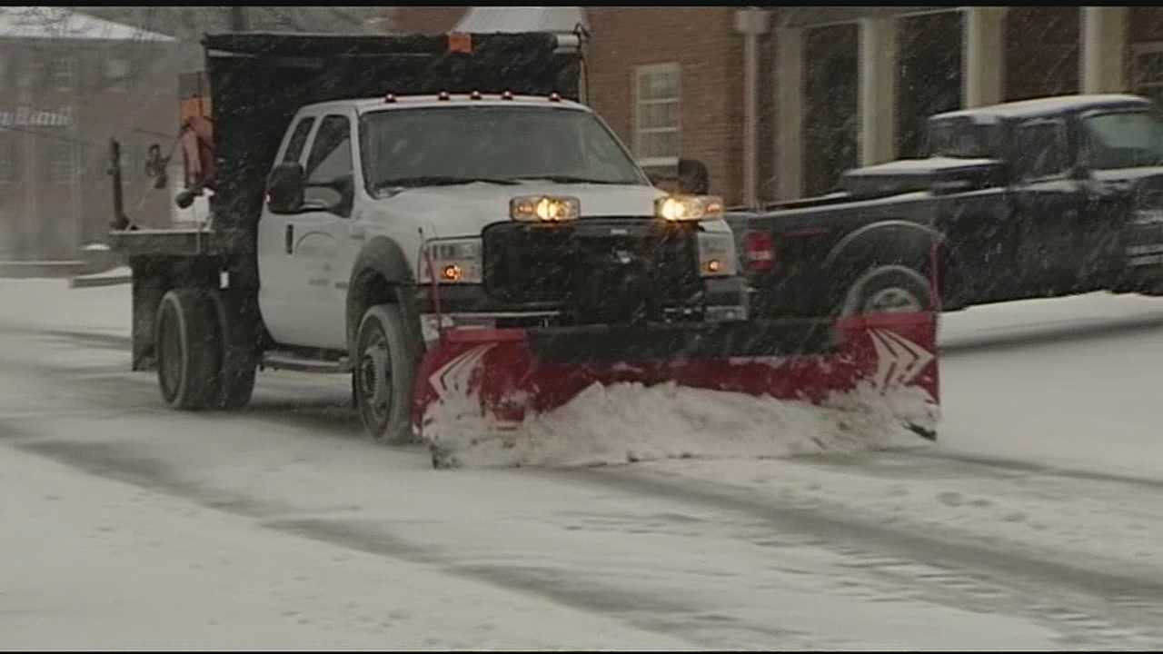 Private plow drivers kept busy Monday making money removing snow from private property and businesses.