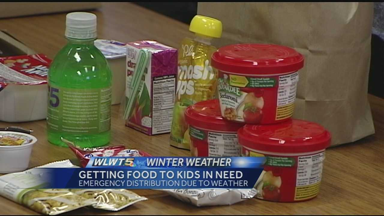 Thousands of students across Greater Cincinnati often don't get three meals a day when districts cancel classes due to weather.