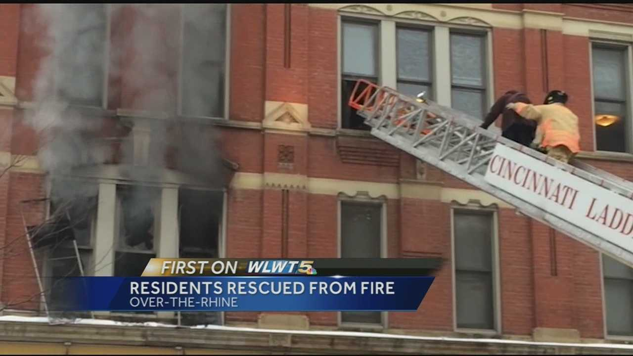 A fire in an apartment building in Over-the-Rhine prompted a rescue and sent a two-year-old to the hospital. Authorities said at least 10 people, including eight children were rescued by the Cincinnati Fire Department.