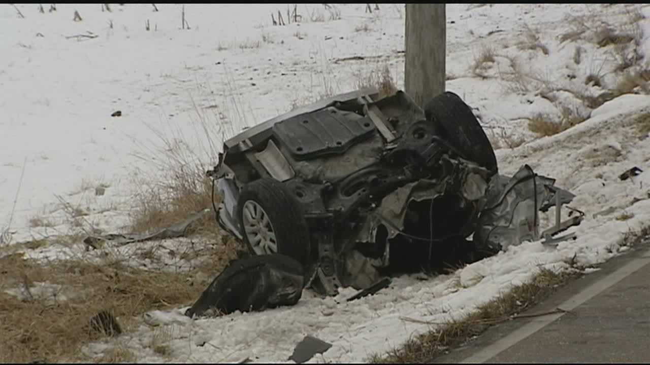The single-car crash happened in the 6000 block of Todd Road, off U.S. 27, shortly after 1 p.m.
