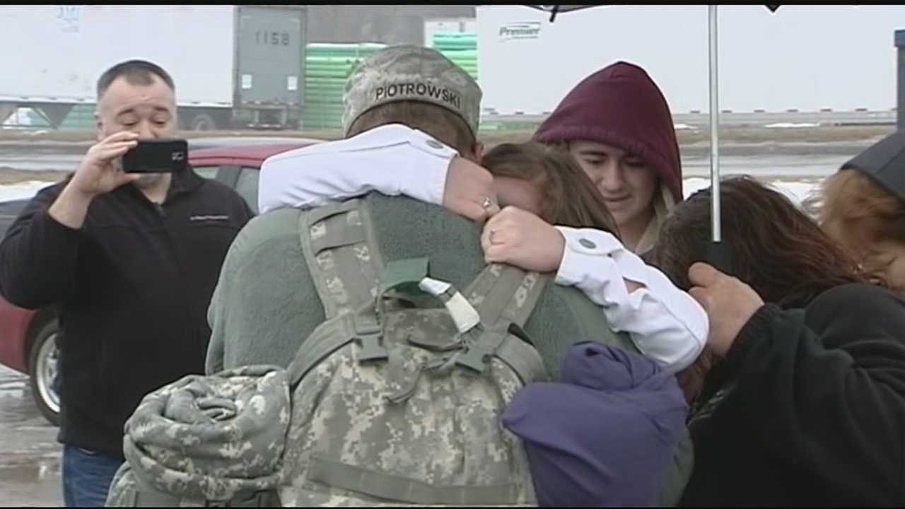 Families were waiting anxiously for the brave men and women of the 961st Engineer Company of the US Army Reserves who've been in Kuwait and Afghanistan for a year.
