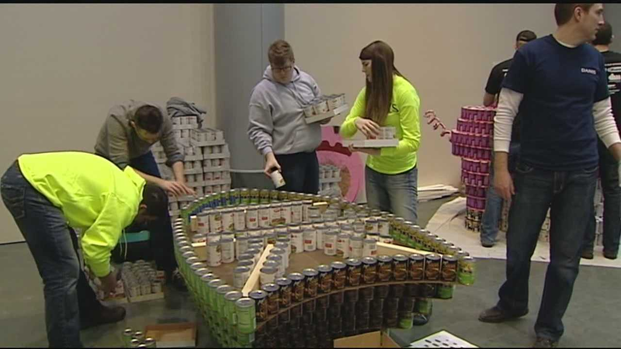 Last year Canstruction contributed close to 59,000 cans to the Freestore Foodbank. This year they have an estimated 67,000 cans.