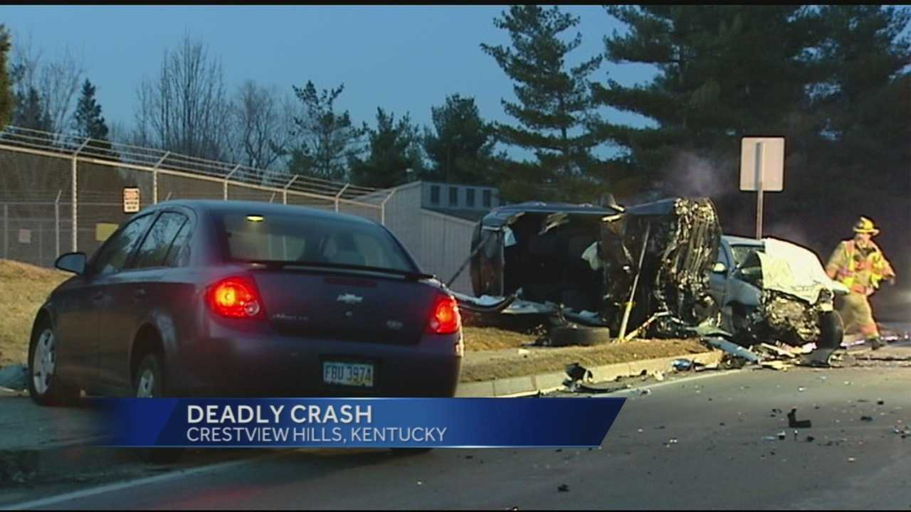 One person was killed in a three-vehicle crash in Crestview Hills early Monday. The vehicles collided on Turkeyfoot Road near Thomas More Parkway shortly after 7 a.m.