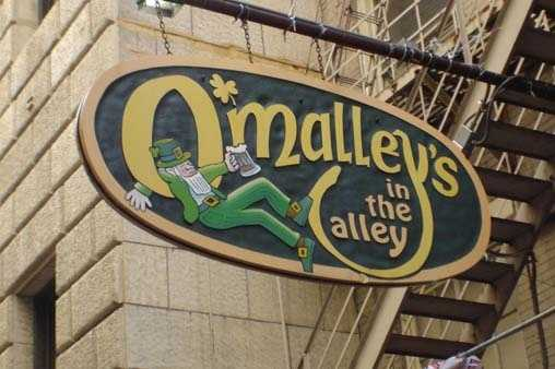 "O'Malley's in the Alley (Downtown)""This place can only be found with the right level of insobriety. We entered to find a land flowing with milk and honey, a jovial atmosphere akin to that of Valhalla, an endless barrel of peanuts, and bubbling fountains of Smithwick's!"" - Scott M. on Yelp."