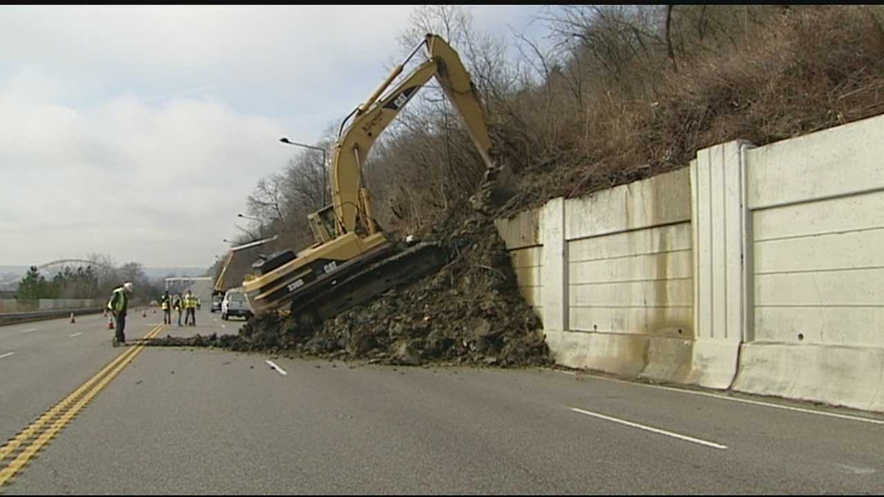 It's mudslide season in Cincinnati. That's why motorists driving on Columbia Parkway were met with delays Wednesday as lanes were closed down to dig out a potential problem hanging over the retaining wall. What most people didn't know is the problems on Columbia Parkway were caused by an accident not with cars, but with engineering.