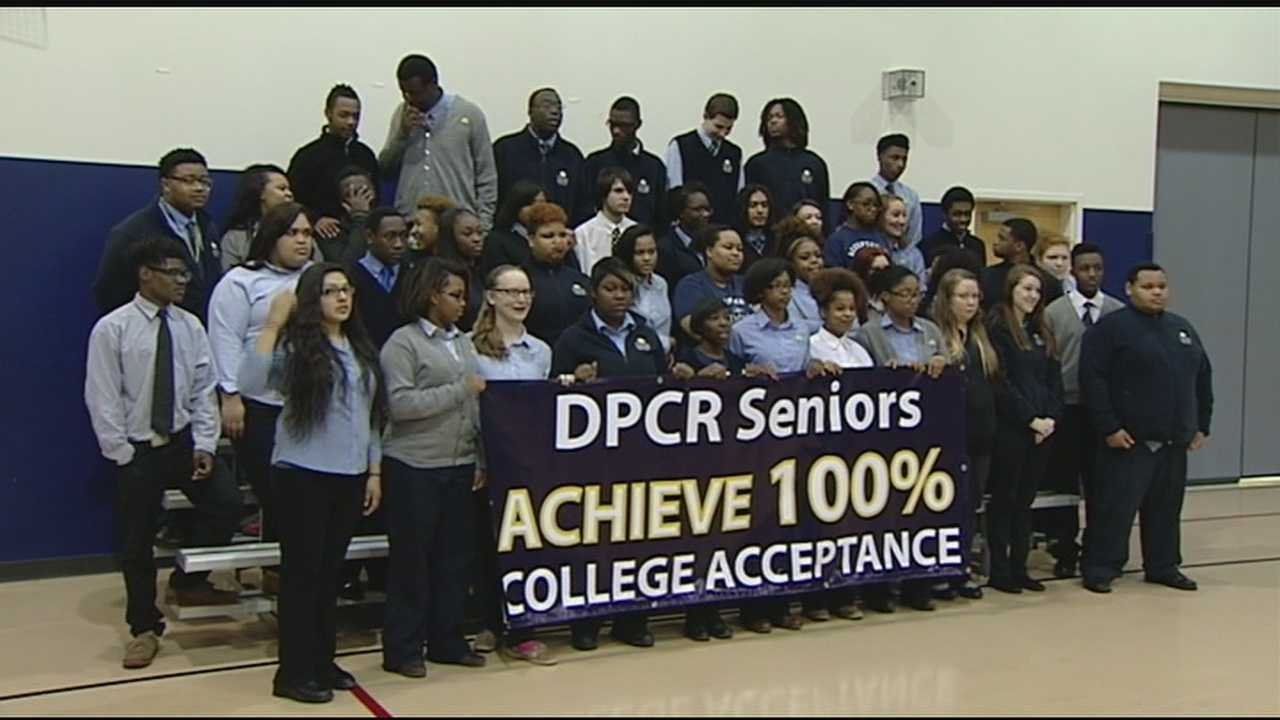 They found out Friday that they achieved their goal. The class achieved a 100 percent college acceptance rate.