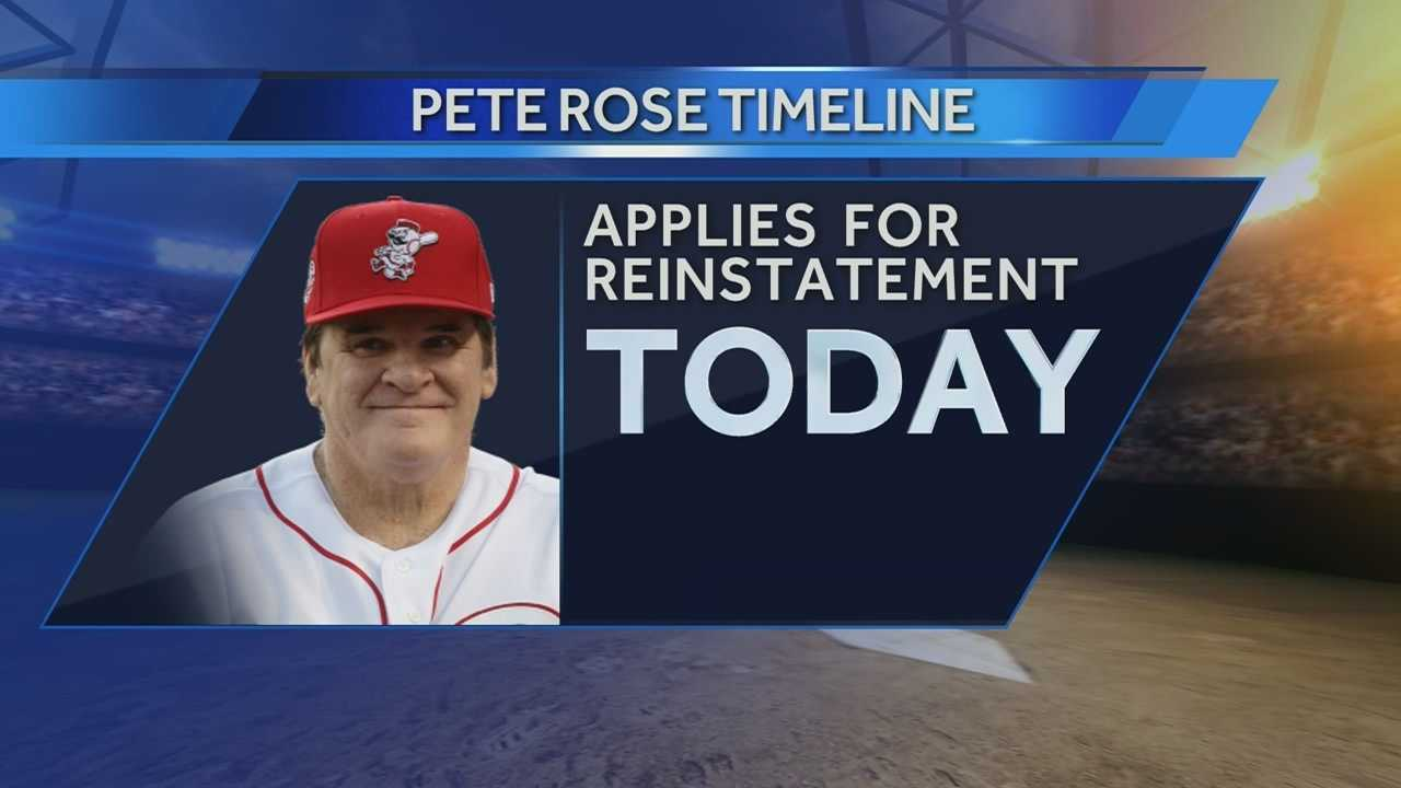 Pete Rose has submitted a new request to be reinstated to baseball.