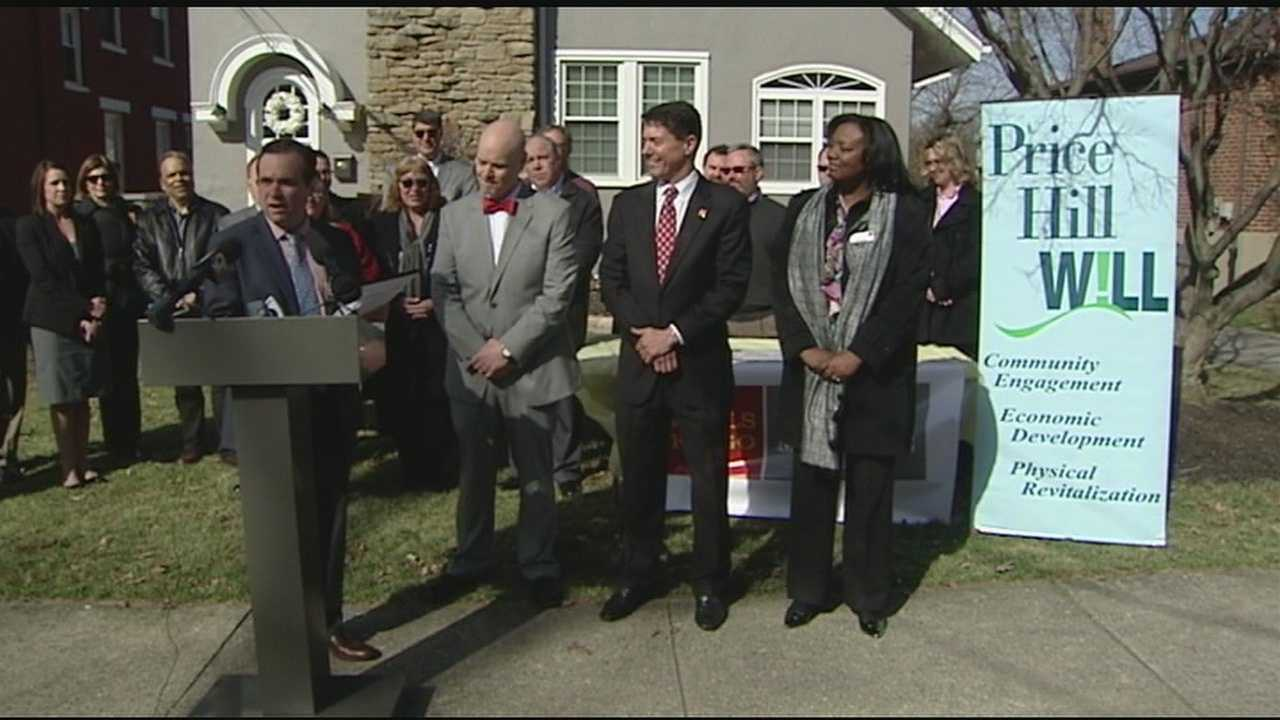City officials announced Wednesday that Wells Fargo donated $500,000 to revitalize Price Hill homes. The neighborhood was hard hit during the housing crisis a few years ago.