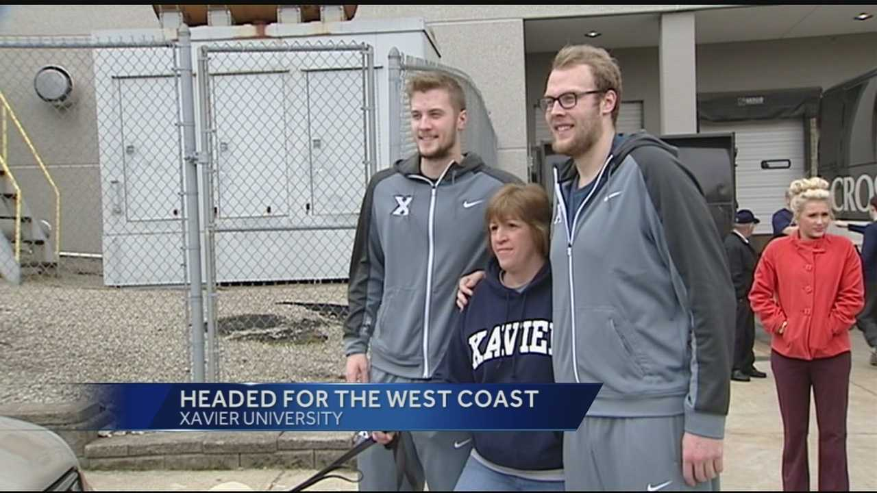 Fans gathered Tuesday afternoon to send off the team from the Cintas Center. Cheerleaders, the band, coaches and players were all excited about their trip to Los Angeles.
