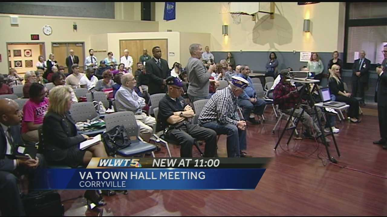 The VA hosted one of four quarterly town hall meetings Wednesday evening to answer questions from Cincinnati-area veterans and their family members.