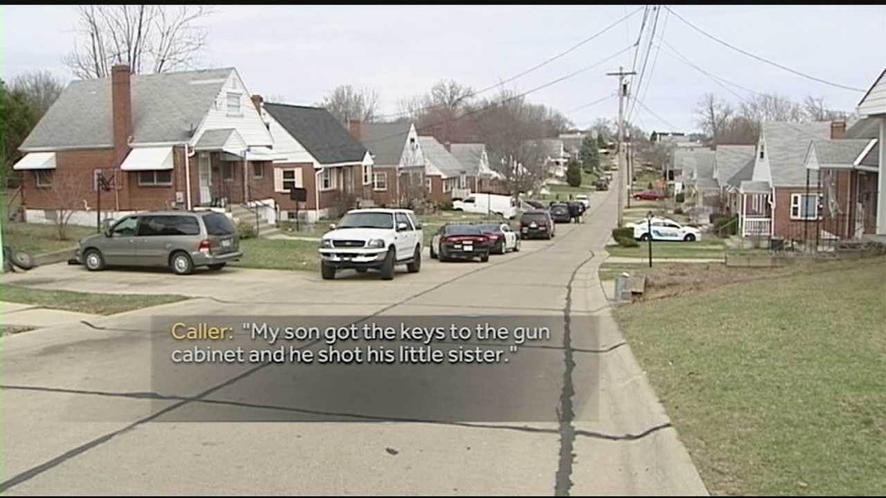 A 5-year-old Northern Kentucky boy got the keys to the family's gun cabinet and shot his 2-year-old sister in the head, according to his mother in her 911 call. The 2-year-old girl was shot in the head on March 23 in a Highland Heights home.