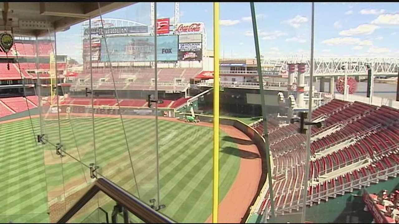 The first changes fans will notice are new Great American Ballpark signs outside the stadium.