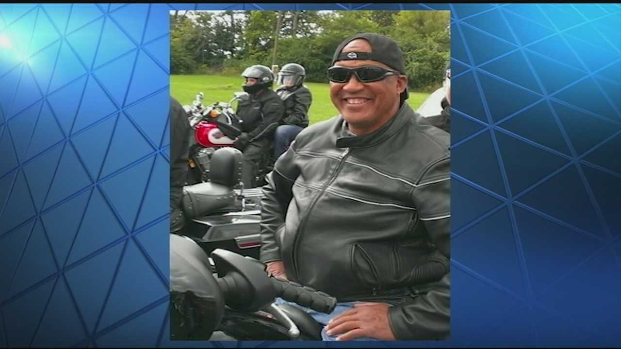George Brooks, 63, was killed when his motorcycle collided with a car during a funeral procession Saturday at Liberty and Lockhurst streets.