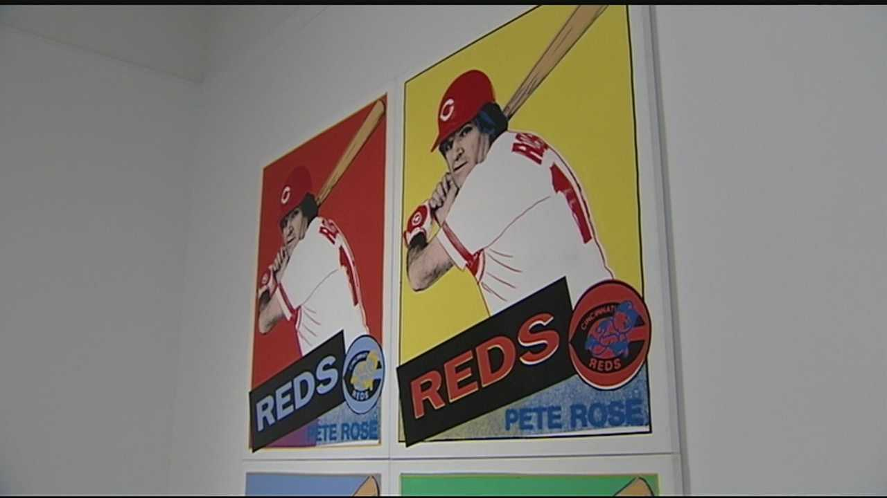 The 1985 commissioned portrait of Pete Rose, a 1962 print portraying Roger Maris and a 1977 portrait of Tom Seaver, who pitched his only no hitter as a Cincinnati Red.