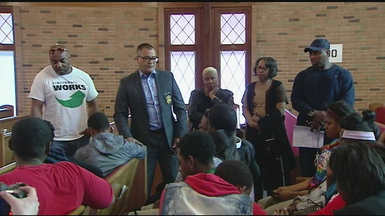 Faith leaders offered prayers to friends of a 17-year-old girl gunned down in Walnut Hills on Saturday night. The prayer service was held at Metropolitan CME Church on Melrose Avenue.