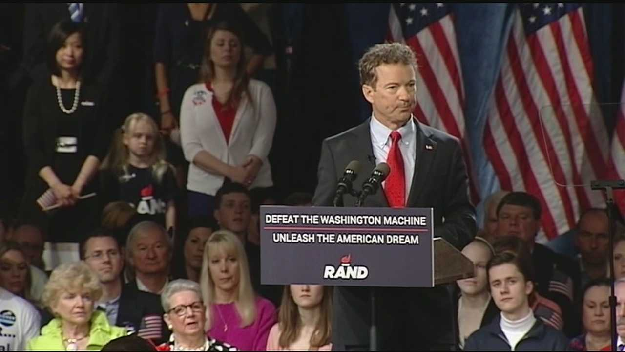 As expected, Kentucky's Junior Sen. Rand Paul officially entered the Republican presidential sweepstakes Tuesday. In doing so, Paul cast himself as a Washington outsider and fixer of the nation's political problems, heaping blame on both major parties for dysfunction and excess spending.