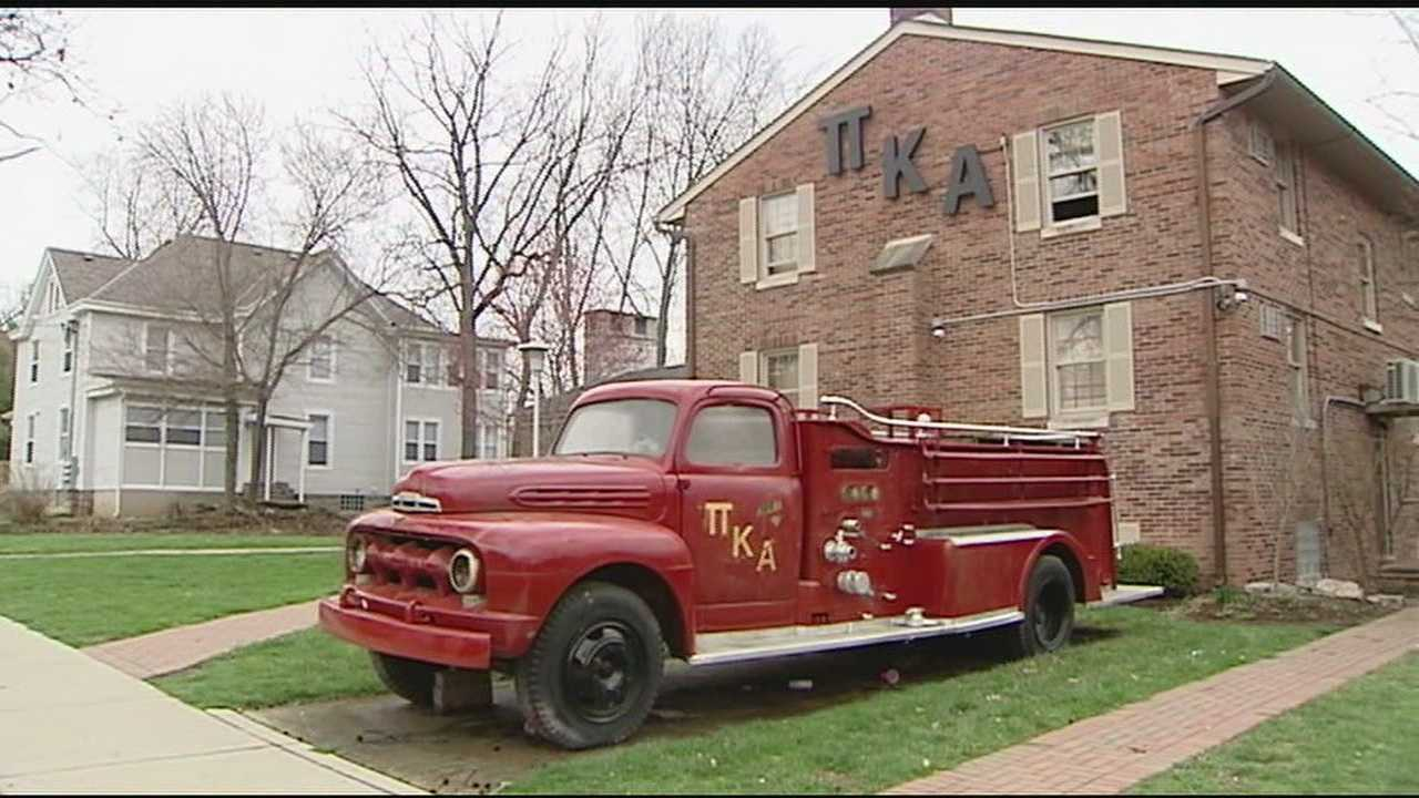 Graffiti is inherently offensive, but what brothers from one Miami University fraternity woke up to find Easter morning went beyond that. Remnants of yellow spray paint could be seen on Pi Kappa Alpha's vintage fire truck, which sits ceremoniously in the fraternity's front yard.