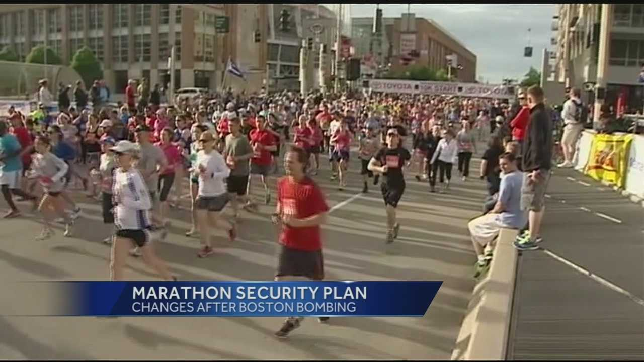 The Boston Marathon ran Monday, two years after the bombing which changed security at marathons forever. Those changes will be on display again this year at the Flying Pig Marathon. Organizers said they and participants both are getting more used to the security procedures after the initial scramble to make changes two years ago.