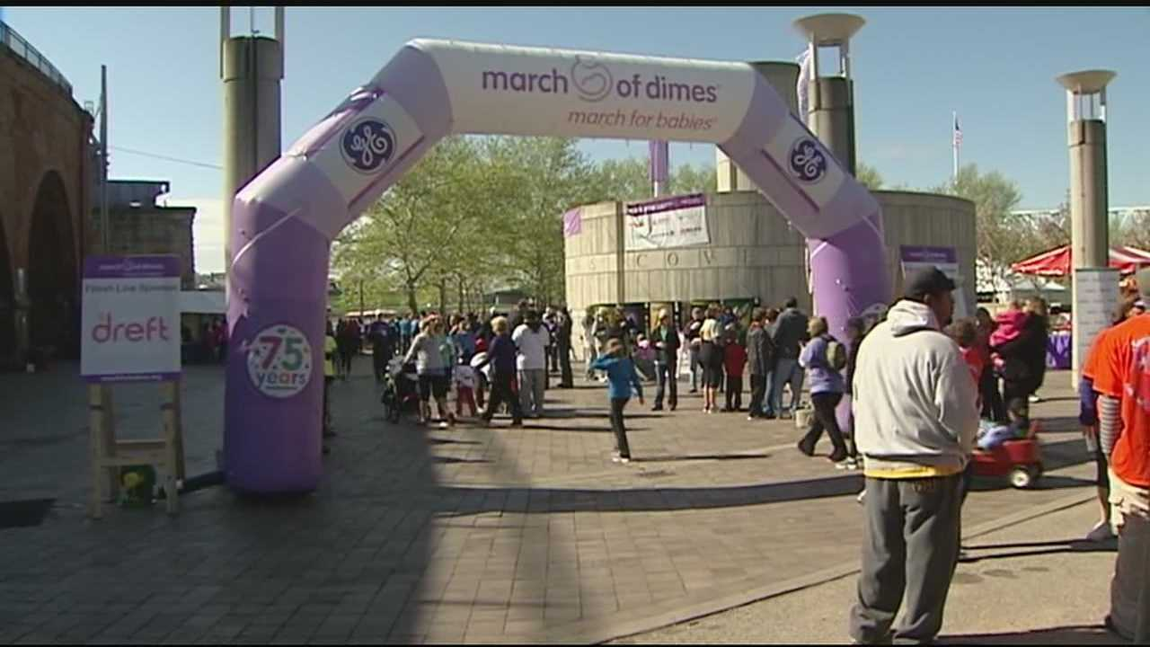 The walk in its 45th year, supported the March of Dimes annual campaign.
