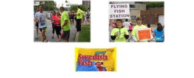 Flying Fish Station - Drop a line (or at least slow down) and snag a Swedish Fish at mile 11 of the half marathon and mile 14 of the full marathon.
