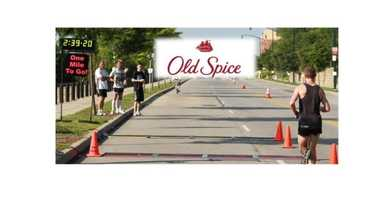 "Old Spice High Endurance Mile to the Finish - Marathoners, kick it in at the ""One Mile to Go!"" sign. The Flying Pig has an award category for each gender/age group to recognize the fastest last mile marathon participant."