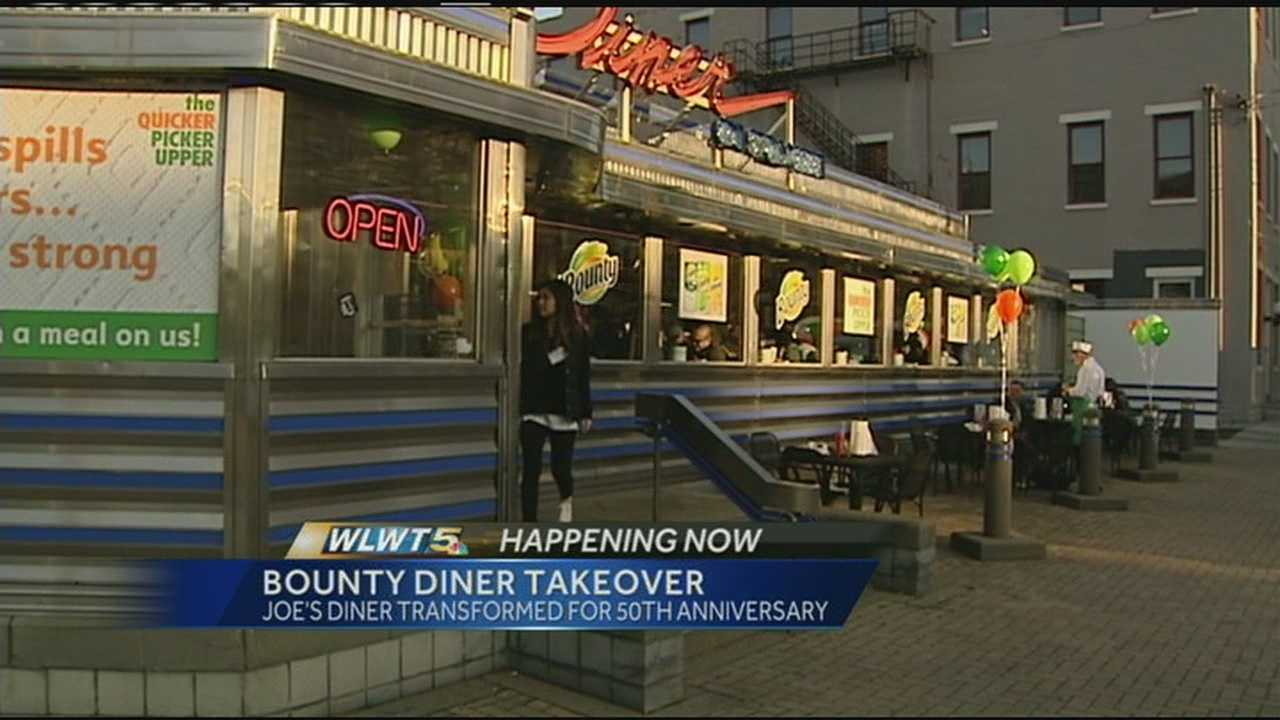 Joe's Diner on Sycamore Street helped Bounty celebrate its 50th birthday Tuesday.