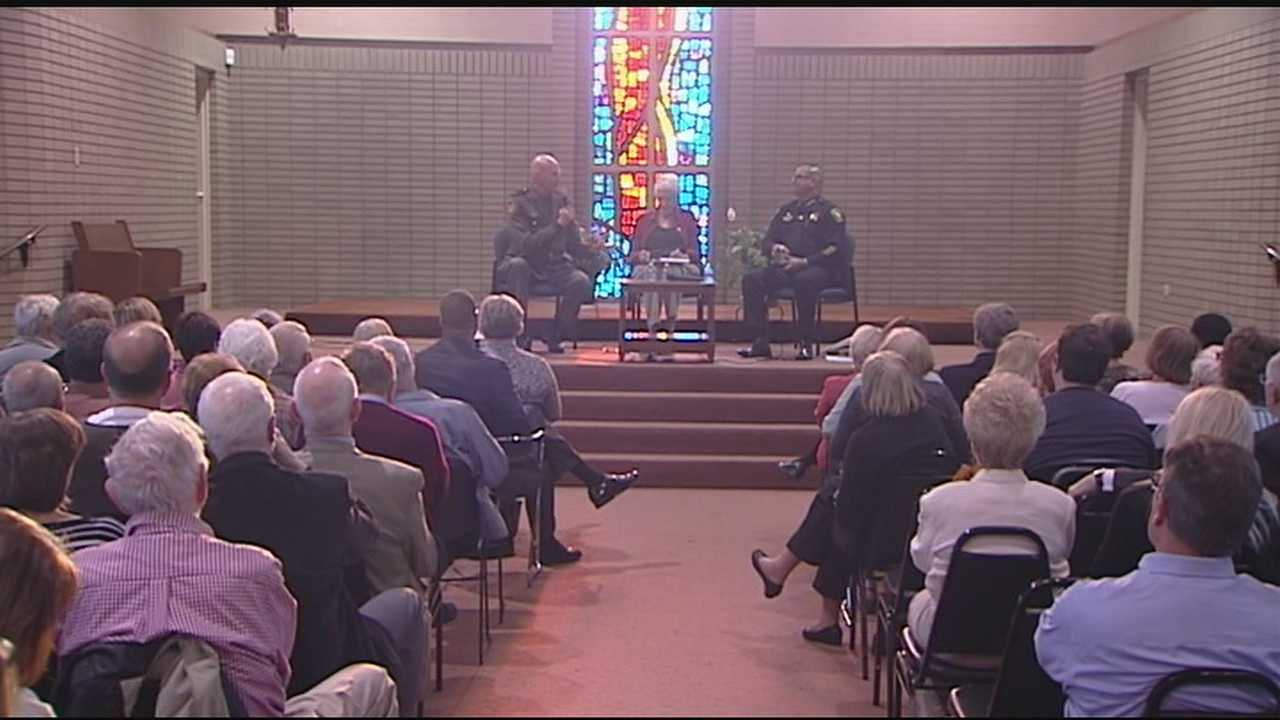 "Hamilton County Sheriff Jim Neil and Cincinnati Police Chief Jeffrey Blackwell were featured in ""Beyond Civility: Side-by-Side"" at DePaul Cristo Rey High School."