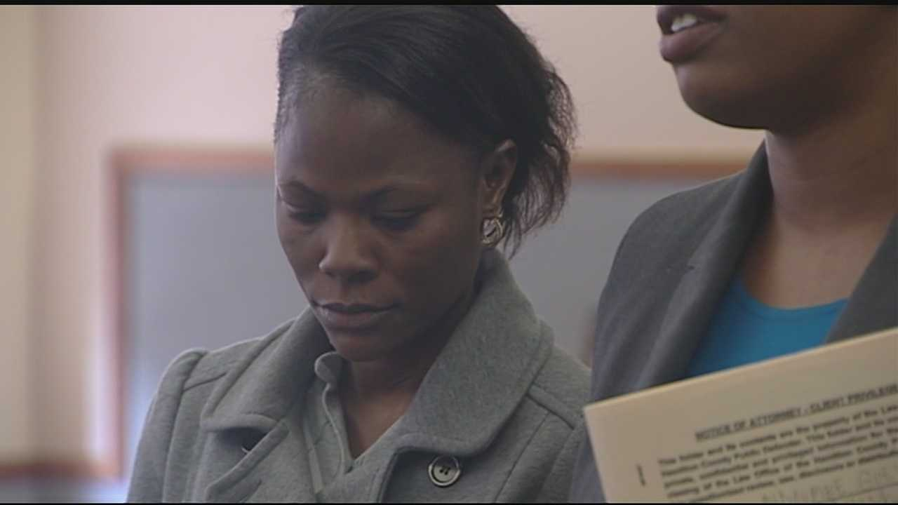 A woman accused of boarding a school bus and slapping a child was in court Tuesday. N'Doumbe Gueye, 30, pleaded no contest to an assault charge. She was sentenced to 180 days in jail, with all but five days suspended and credit for one day already spent there.