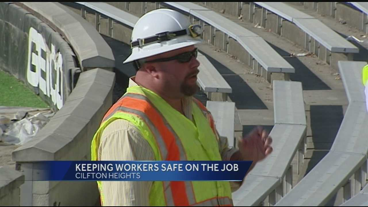 Nippert Stadium at UC is under construction, but workers were told to stand-down today to make sure everyone is safe.